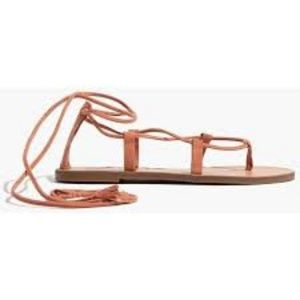 NWOT Madewell boardwalk lace up sandals